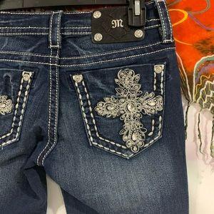 Miss Me Dark Signature Rise Boot Cut Jeans - 27